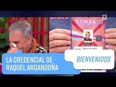 La credencial de Raquel Argandoña   Bienvenidos