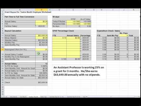 Grant Buyout Project File Professor example