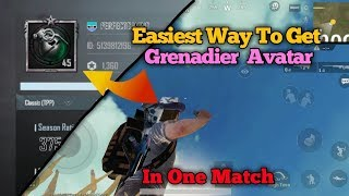 Easily Unlock GRENADIER AVATAR in UNDER 10 MINUTES | PUBG Mobile How To with DerekG