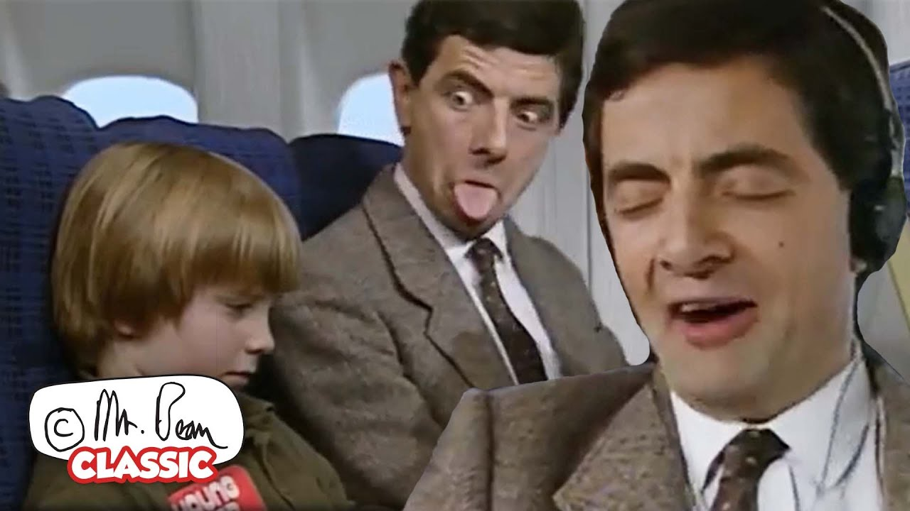 FLYING With Mr Bean   Mr Bean Funny Clips   Classic Mr Bean