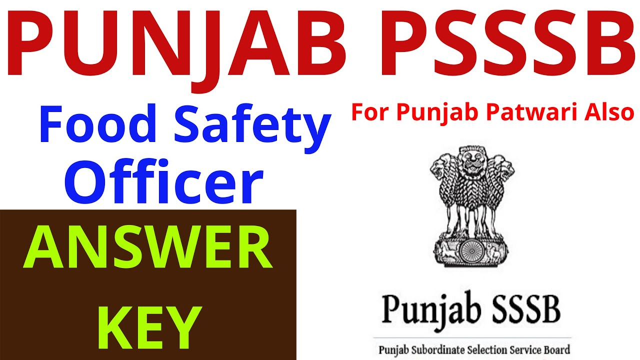 PSSSB FOOD SAFETY OFFICER EXAM ANALYSIS | ANSWER KEY ...