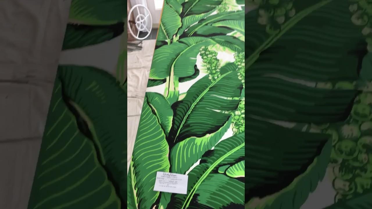 Installing Dorothy Draper Brazilliance Wallpaper