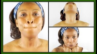 4 FACIAL EXERCISES FOR SAGGING NECK AND JAWLINE, TIGHTEN TONE THE NECK AND JAWLINE |Khichi Beauty