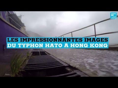 Les impressionnantes images du typhon Hato qui a déferlé sur Hong Kong