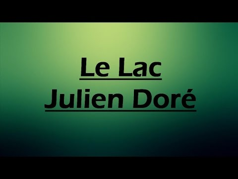 Le Lac  - Julien Doré LYRICS