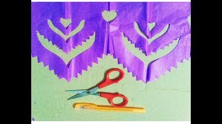 DIY  wall & door decor paper designs,with colour papers..origimi cutting