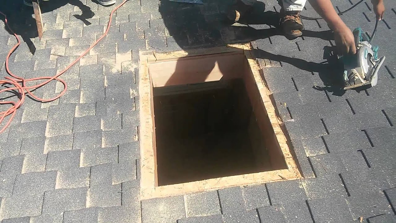 How To Video Installing A Curb Mount Skylight Step By