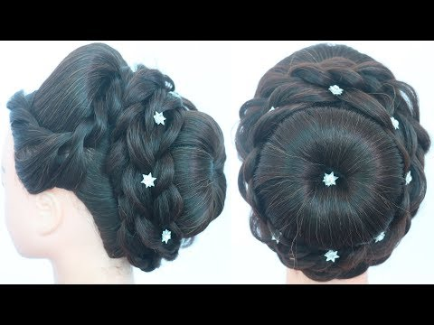 new prom hairstyle for wedding & party || bridal hairstyle || juda hairstyle || updo hairstyle thumbnail