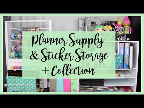 Planner Supply & Sticker Storage + Collection   RubyTrev