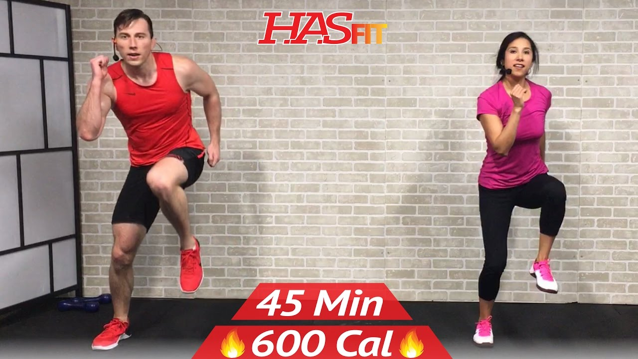 45 Min Tabata HIIT Cardio and Abs Workout No Equipment Full Body at Home Training for Fat Loss