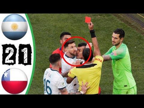 Месси удалили в матче Аргентина - Чили, Копа Америка 2019