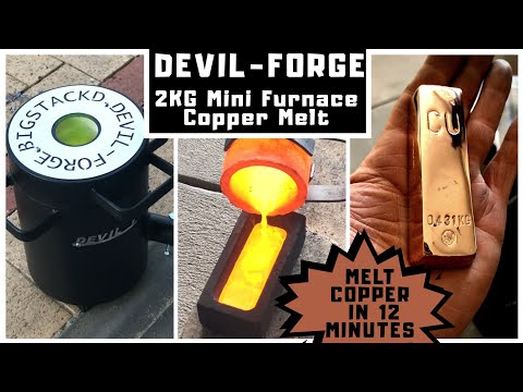 2 kg Mini Melting Furnace - 12 Minute Copper Melt with Devil-Forge
