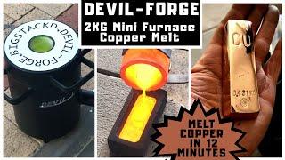 2 kg Mini Melting Furnace - 12 Minute Copper Melt with Devil-Forge