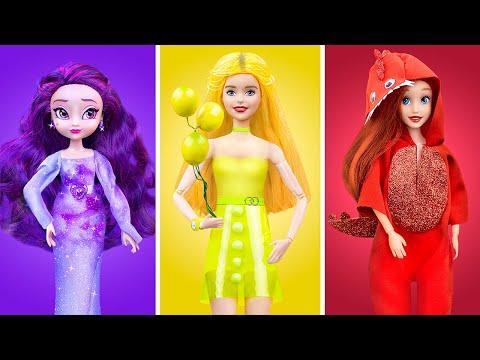 Цветной челлендж! Всё одного цвета для Барби
