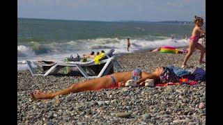 Грузия, пляж в Кобулети июль 2019, грузия после запрета.