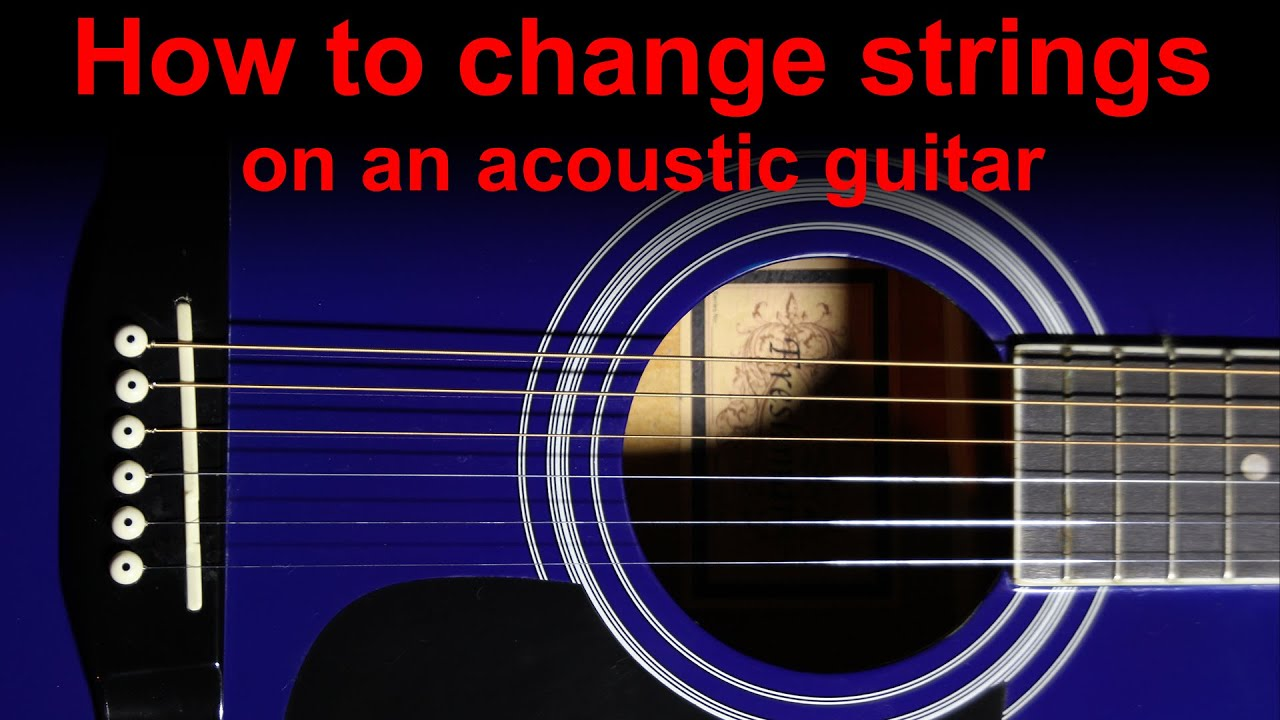 changing strings on an acoustic guitar country folk dreadnought roundback youtube. Black Bedroom Furniture Sets. Home Design Ideas