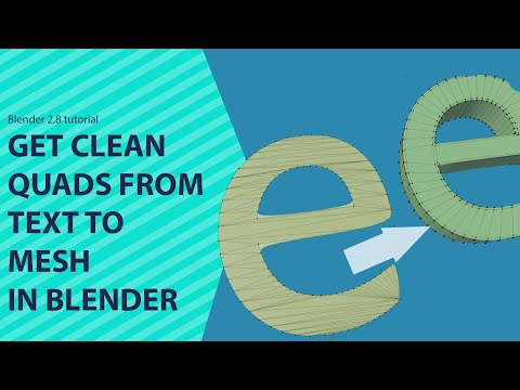 How To Get Clean Quads For Text Meshes In Blender  Tutorial