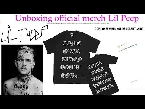 beb33accb Обзор мерча Lil Peep с официального сайта / Unboxing official merch Lil Peep  2017