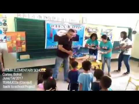 TEAMJCOs (Cocojul) Back to School Project Cortes Bohol Fatima Elementary school 06/14/17