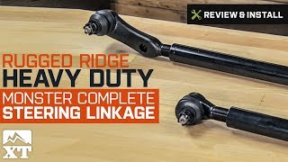 Wrangler Rugged Ridge Heavy Duty Monster Complete Steering Linkage (1997-2006 TJ) Review & Install