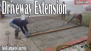 How to Extend & Pour a Driveway Addition!