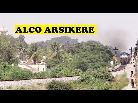 ALCO Shimoga Mysore Passenger Chugs Out Arsikere