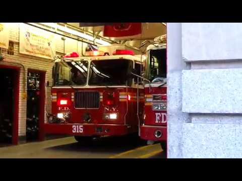 FDNY engine 315 Spare quickly gets cancelled even before getting out of its quarters
