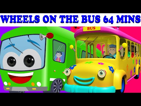 Wheels On The Bus |  64 Minutes Compilation | Lots More Nursery Rhymes