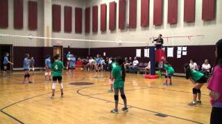 2015 Mt Olive Volleyball Crocs vs Artic Wolves Set 1