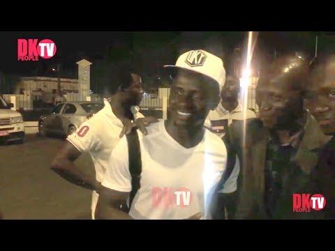 Arrivé de Sadio Mané a Dakar