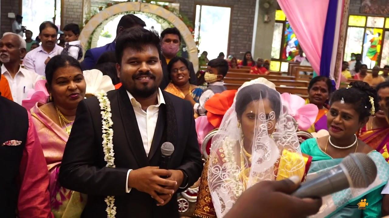 Download Richard❤️ & Leema Richard❤️ | Wedding Story | Blessed Couple Ever 👩❤️👨| Vinnarasi Cathedral💒