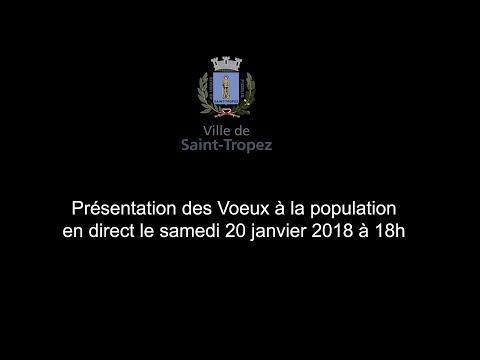 Présentation des Vœux à la population à Saint-Tropez