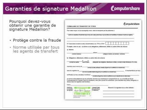 Garantie de signature Medallion - YouTube
