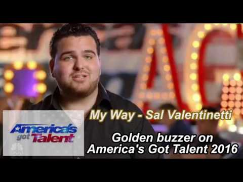 MUSIC AUDIO - Sal Valentinetti - My Way - Golden Buzzer from Heidi Klum - America's Got Talent 2016