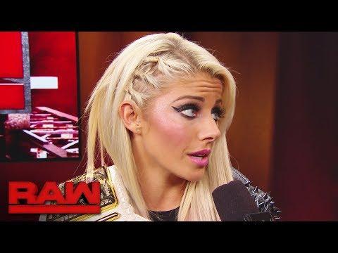 Alexa Bliss ponders a visit to SmackDown LIVE: Raw, Nov. 13, 2017