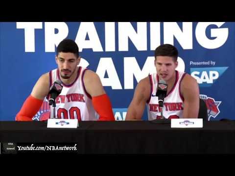 Knicks' Enes Kanter & Doug McDermott 2017 Media Day [Complete] [NBA Network]