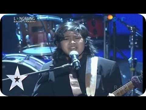 """Rafi Galsa Sings """"She's Gone"""" Rock The Stage! - GRAND FINAL - Indonesia's Got Talent"""