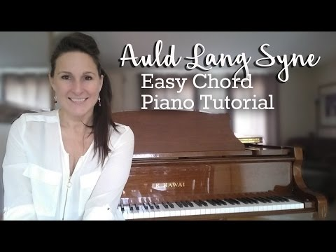 How to Play Auld Lang Syne - Easy Chord Piano Tutorial
