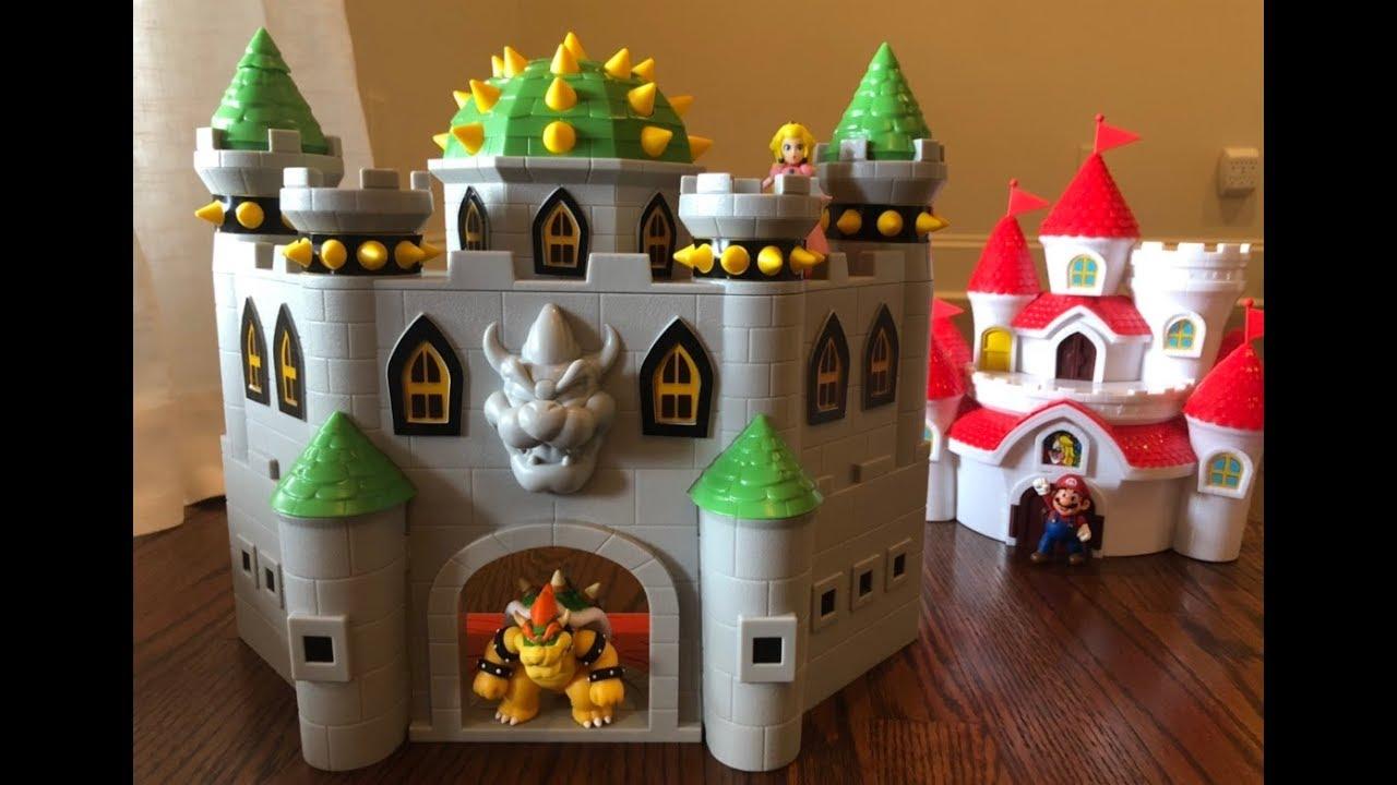 Super Mario Bowser S Castle With 2 5 Bowser Figure Unboxing