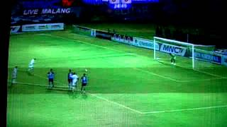 Gol Penalty Keith Kayamba Arema VS Persepam Menpora Cup