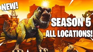 "NEW ""ALL NAMED"" LOCATIONS FOR SEASON 5 ON FORTNITE! LEAKED INFO ON THE NEW LOCATIONS"