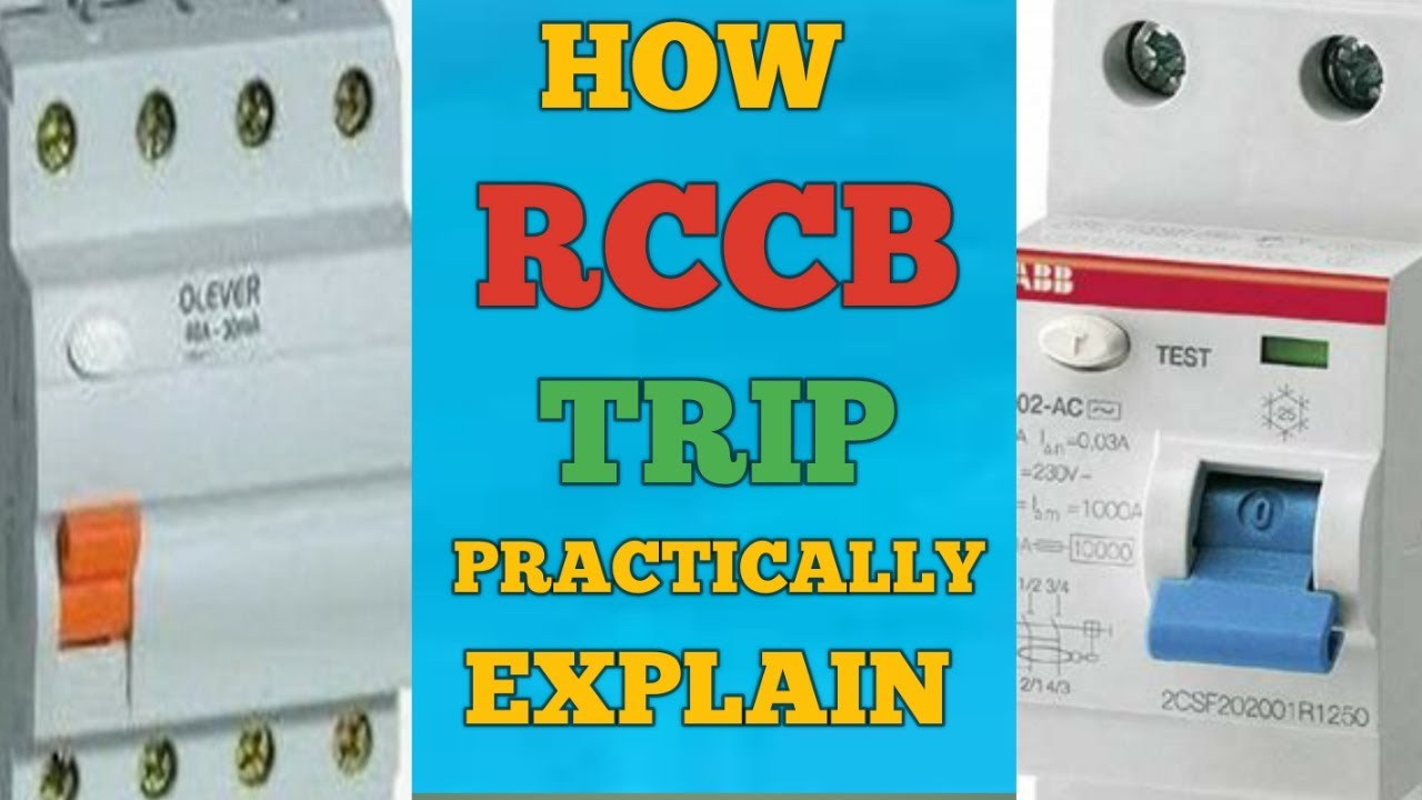 HOW RCCB TRIP IN HINDI-RESIDUAL CURRENT CIRCUIT BREAKER