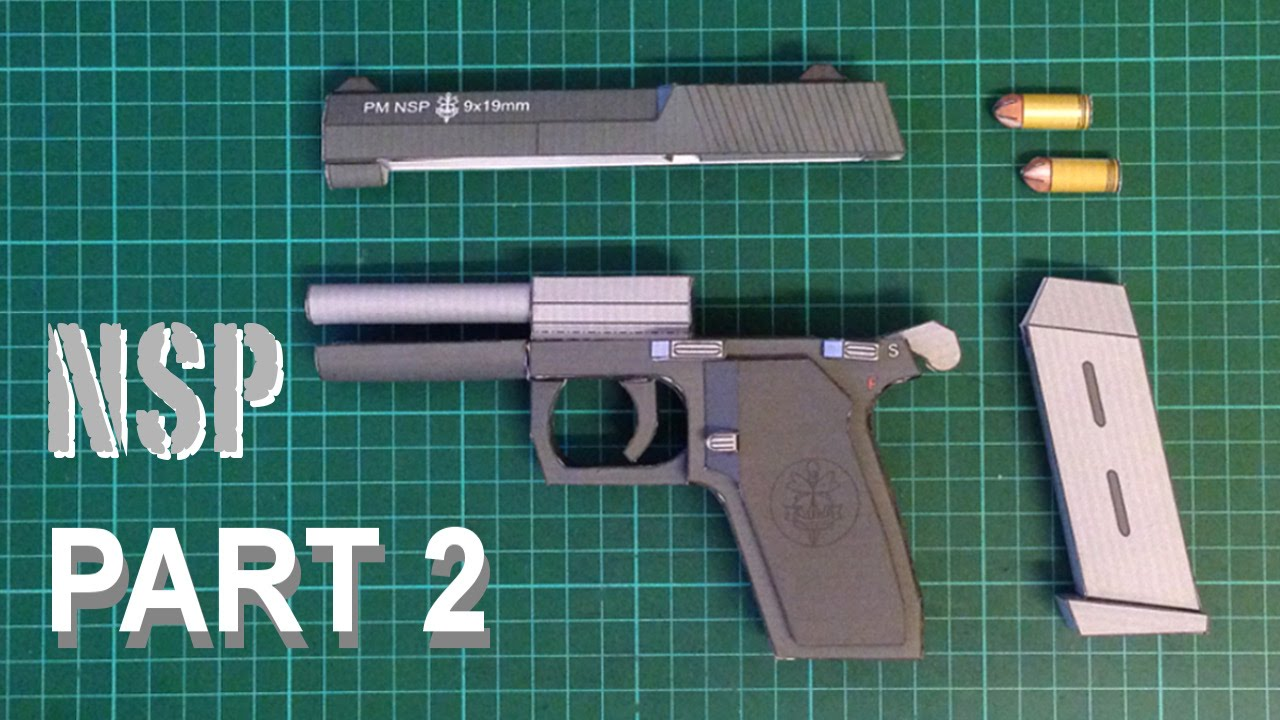 How to make realistic papercraft gun nsp full build part 2 youtube how to make realistic papercraft gun nsp full build part 2 pronofoot35fo Gallery