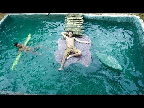 Build Swimming Pool Around Underground House-Part 6