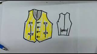 how to draw a vest? drawing, sketch, art, quick draw, craft, how to draw lessons