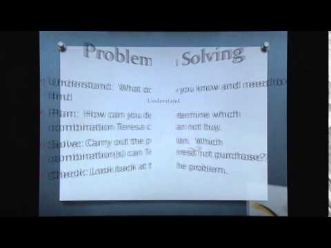 Math 5 Problem Solving Strategies: 4 step plan - YouTube