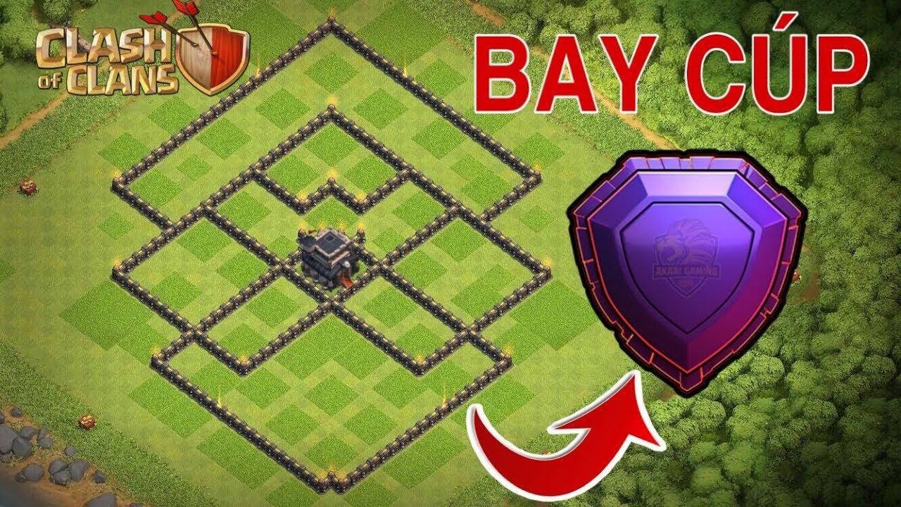 Mẫu BASE TH 9 Bay Cúp HUYỀN THOẠI Clash of Clans | Akari Gaming