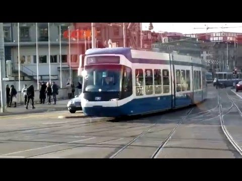 Zurich - ride on board Tram No 6 - 5th January 2016