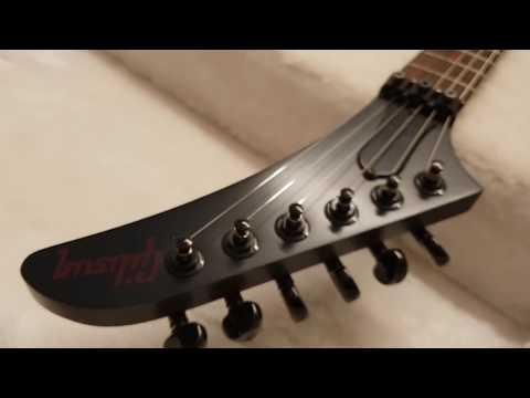 GIBSON 2011 LIMITED EDITION VAMPIRE BLOOD MOON VOODOO EXPLORER FLOYD ROSE ASH BODY GUITAR UP CLOSE