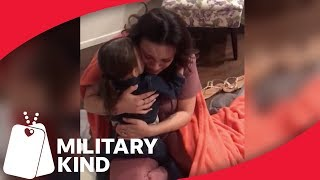3-year-old flies across the country to surprise navy mom   Militarykind